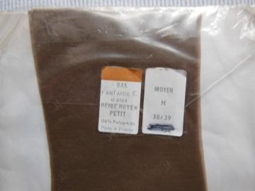 Strapsstrümpfe-Langstrümpfe echte NYLONS Vintage Beige Grösse 38/39 15 Den  RAR